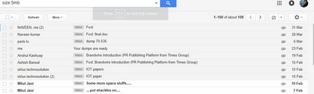 search file size in gmail