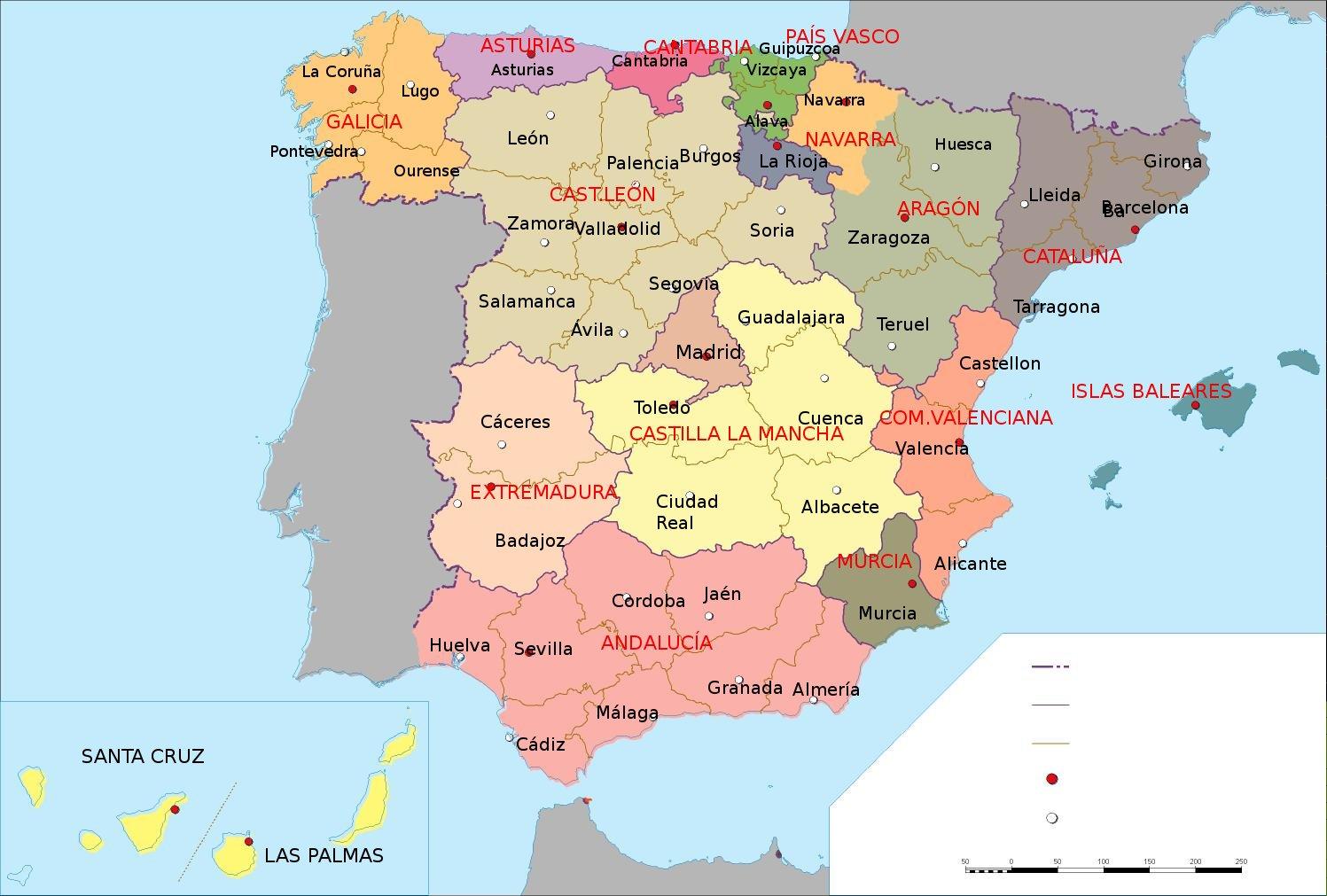 Mapa Politico De España Mudo Vicens Vives.Mapa Politico Espana Para Colorear Mapa Poltico De Espaa