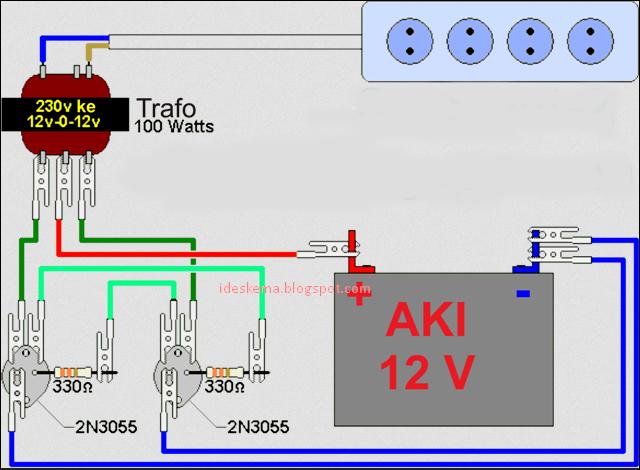 Rangkaian Membuat Inverter Dc To Ac Sederhana Memakai