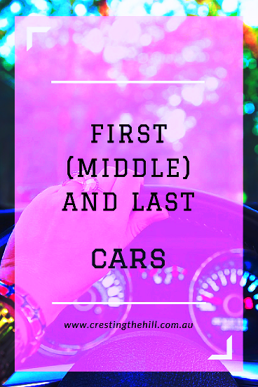 Do you remember your first car? Was it cute like mine? How about your last car?