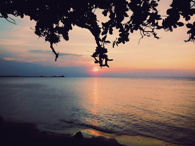 foto sunset di pantai bondo jepara
