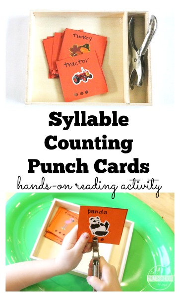 how to teach syllable counting to kids