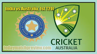 1st T20 AUS vs IND Today Match Prediction Dream11 Squad