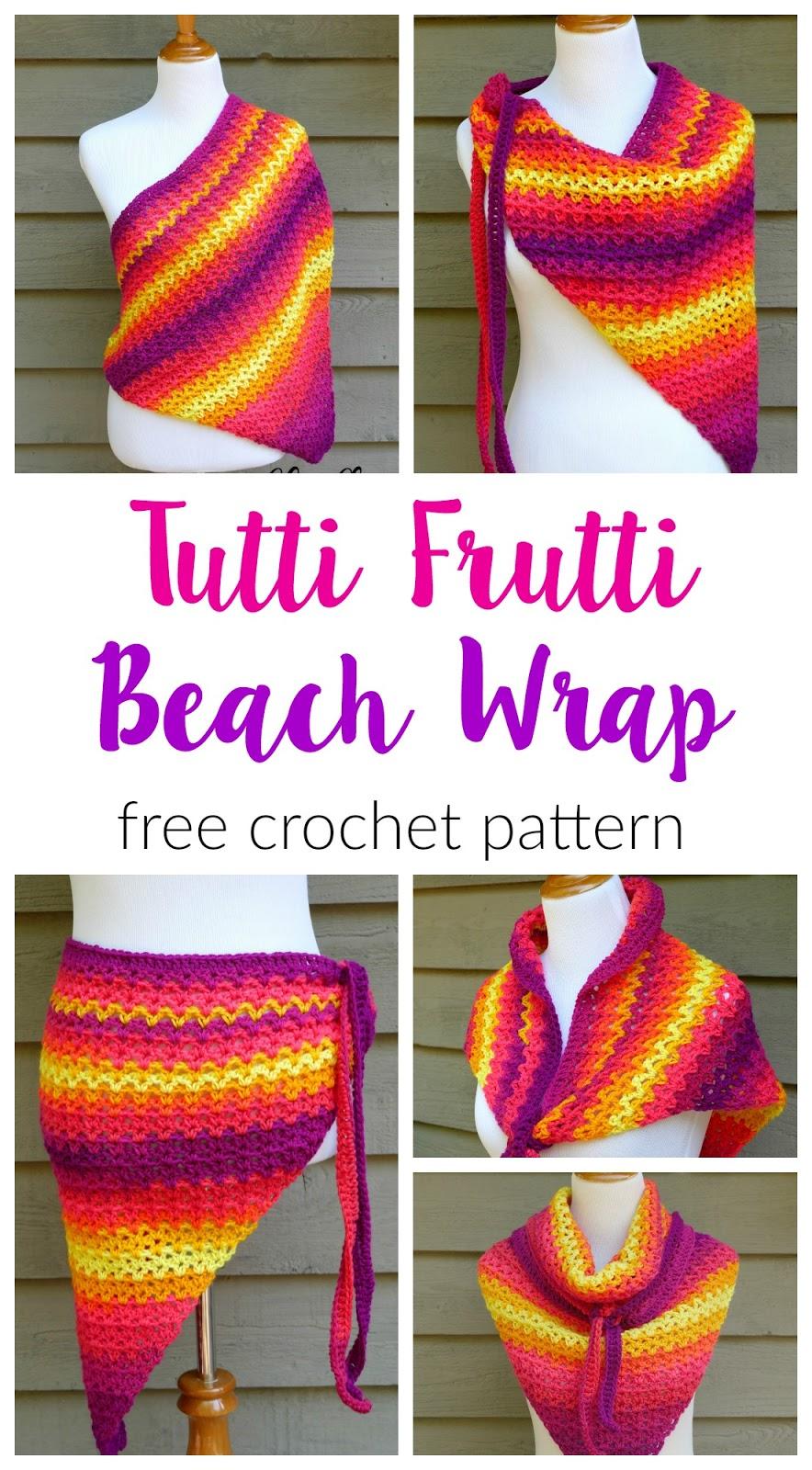 Favorite Fiber Flux: Free Crochet PatternTutti Frutti Beach Wrap! AX18