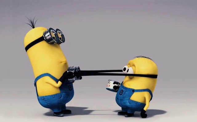 minions fight picture