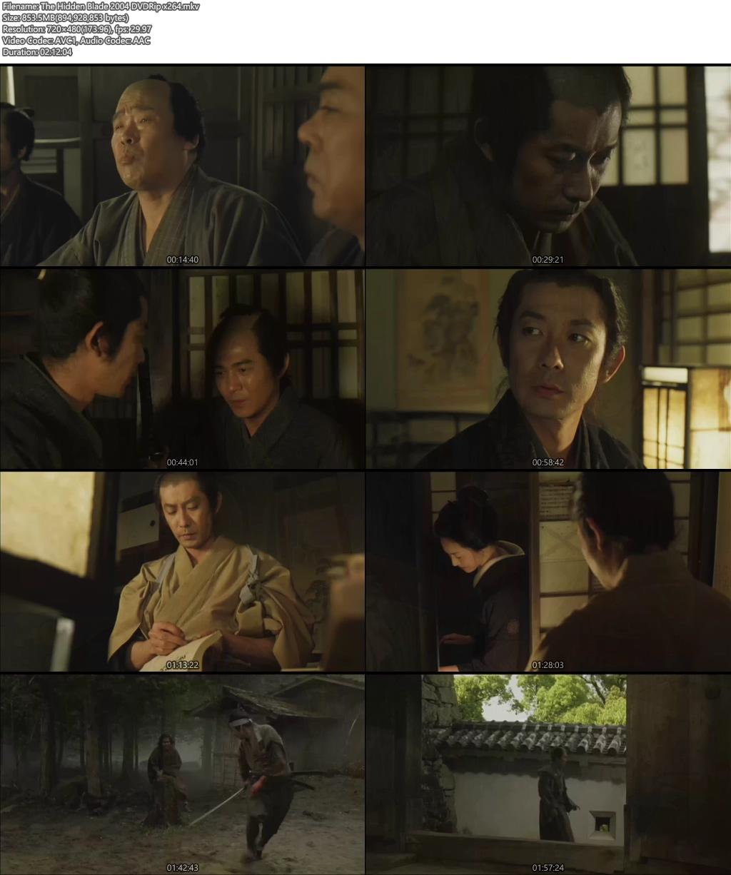 The Hidden Blade 2004 DVDRip x264 | 480p 300MB | 100MB HEVC Screenshot