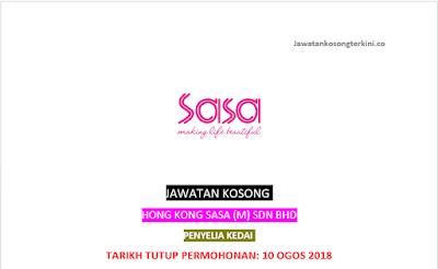 Jawatan Kosong Hong Kong Sa Sa (M) Sdn Bhd 2018