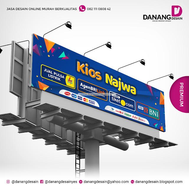 Contoh Desain Spanduk Banner Loket Pembayaran BRI Link ...