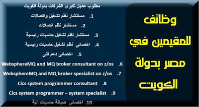 موقع اخبارى : فرص عمل للمصريين بدولة الكويت تخصصات تكنولوجية