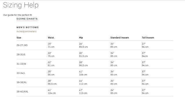lululemon men-size-chart