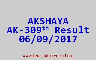 AKSHAYA Lottery AK 309 Results 6-9-2017