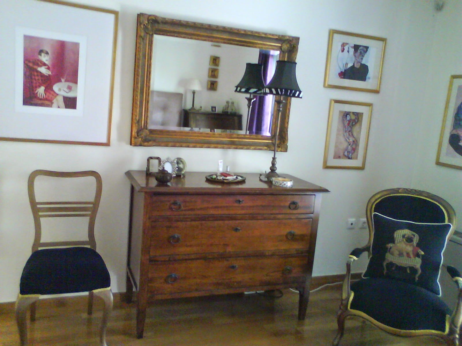 Gilt-framed mirror