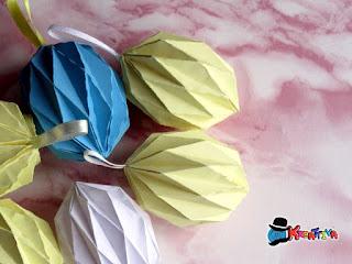 uova di pasqua origami fai da te