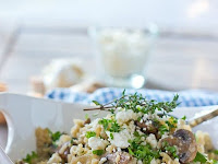 CAULIFLOWER RICE WITH MUSHROOMS AND FETA