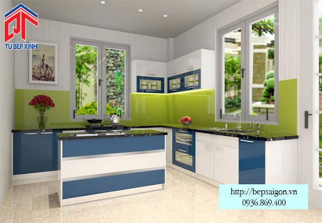 Thiết kế tủ bếp đẹp hoàn hảo với phong cách hiện đại