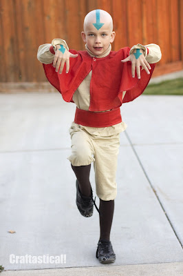 Aang from Avatar: The Last Airbender Halloween costume