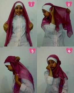 cara memakai hijab terbaru segitiga