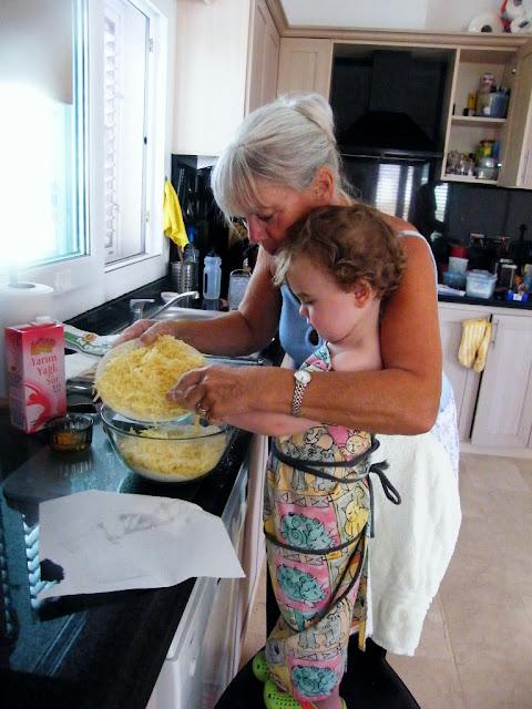 1. Sieve flour, baking powder, salt & mustard together, rub in butter, then add the grated cheddar.