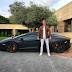 Football star Cristiano Ronaldo shows off his Lamborghini in new pic