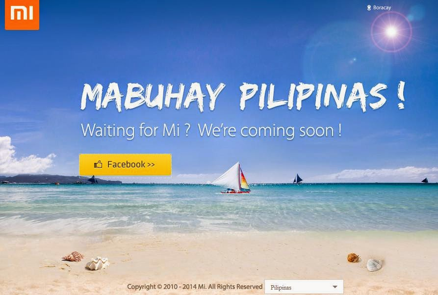 Xiaomi Launched Philippine Website and Facebook Page