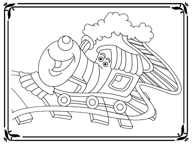 Coloring Pages Of A Train