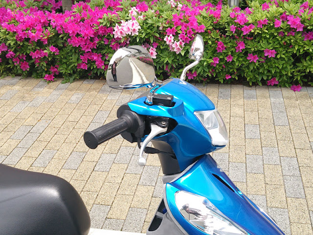 アドレスV125GにSP武川06-01-113/06-01-114のバックミラー装着