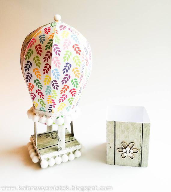 pudełko w kształcie balona