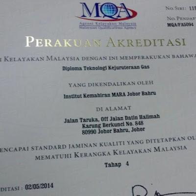 Perakuan Akreditasi MQA Program DGS
