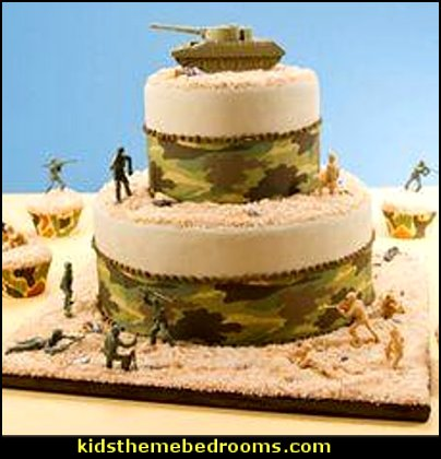 Camouflage Edible Cake Image Cupcakes Cake  army party decorations - Camouflage Party Supplies - army party ideas - Military party ideas for a boy birthday party - Army & Camouflage decorations - army party decoration ideas - army themed party - army costumes - Army Camo Party Supplies -