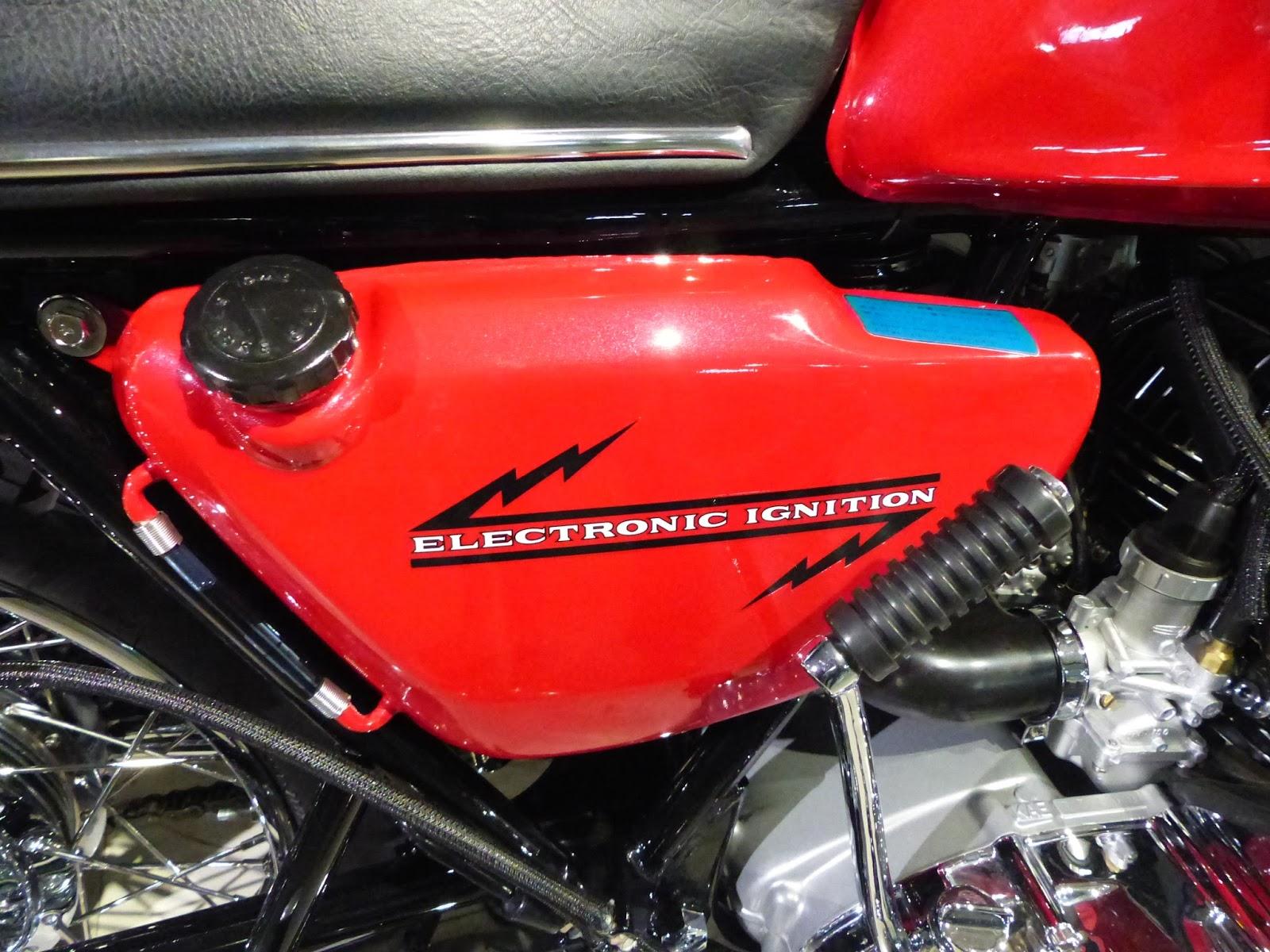 OldMotoDude: 1970 Kawasaki H1 500 Triple on display at the
