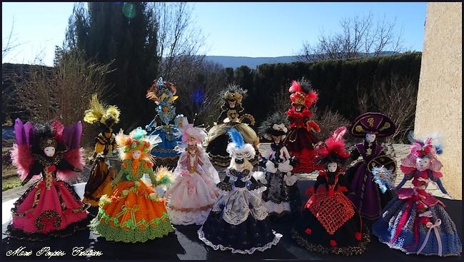 Poupées Carnaval de Venise