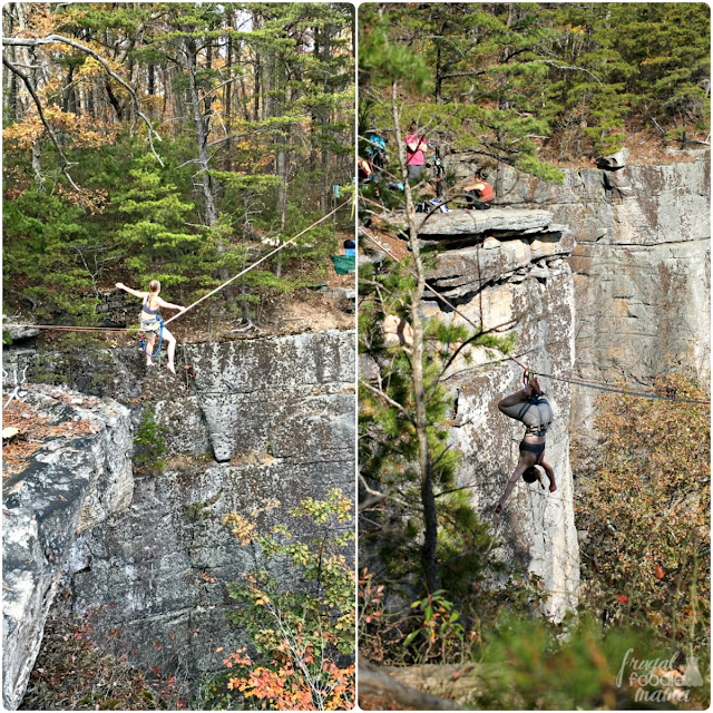 The Diamond Point Overlook on the Endless Wall Trail is used not only by rock climbers, but by zip liners as well.