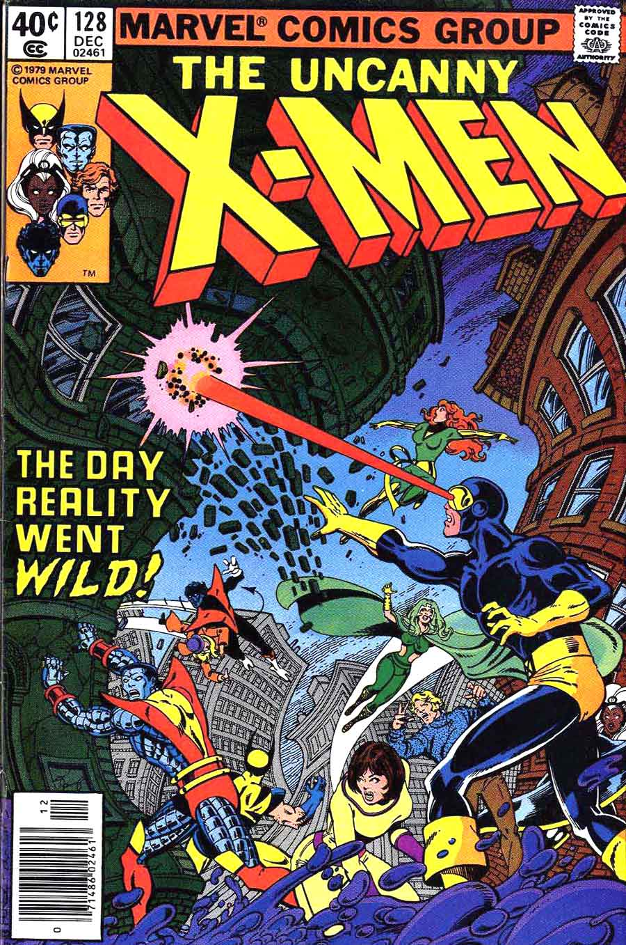 X-men v1 #128 marvel comic book cover art by John Byrne