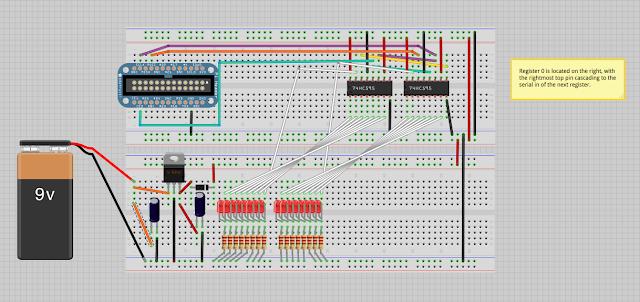 74HC595 Shift Register IC Vcc - Raspberry Pi Forums