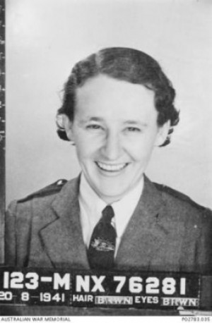 Mona Tait enlistment photo