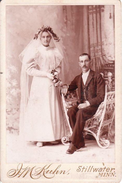 Photo de mariage victorienne
