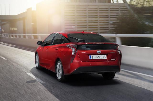 2016 Next Toyota Prius Starting PRice £23,295 back view