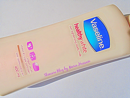 Vaseline healthy white skin lightening body milk-Review ~ Skin Care Blog by Maria Hussain