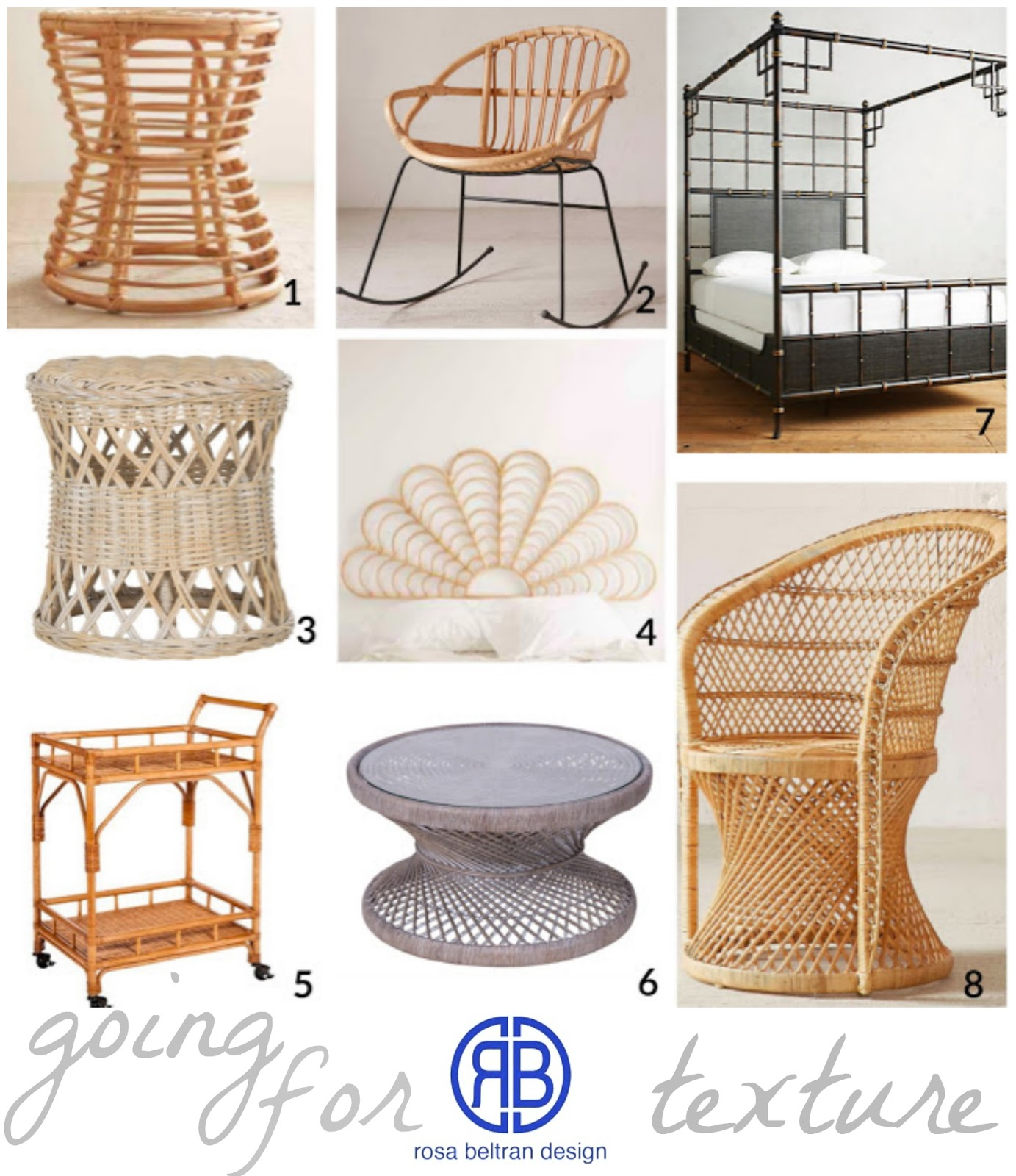 Rosa Beltran Design GOING FOR TEXTURE A ROUND UP OF RATTAN