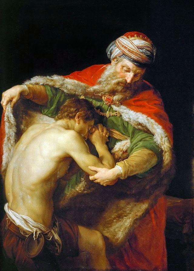 Retour du fils prodigue par Pompeo Batoni