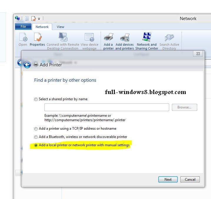 Tips And Trick Windows 8: How to add local printer or ...