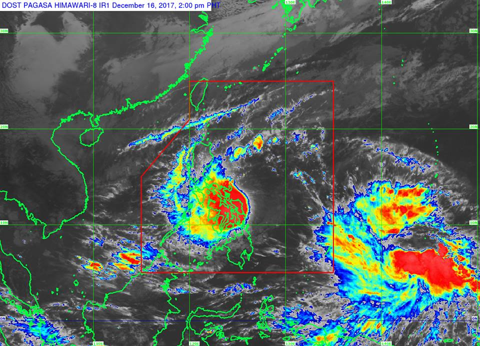 Tropical Storm Urduja satellite image courtesy of DOST-PAGASA