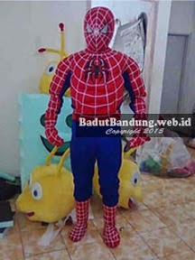 gambar kostum badut spiderman karkater hero
