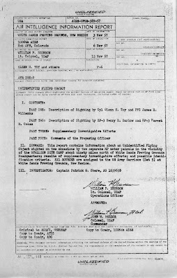 AISS UFO Report - White Sands Proving Grounds (Pg 1) 11-13-1957