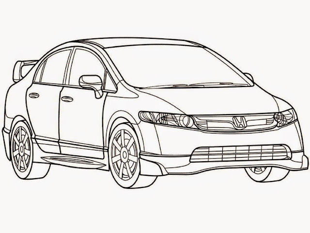 Honda Civic Mugen Coloring Pages