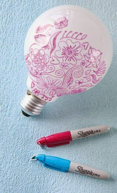 Don't Pin That: Draw on a Lightbulb with a Sharpie