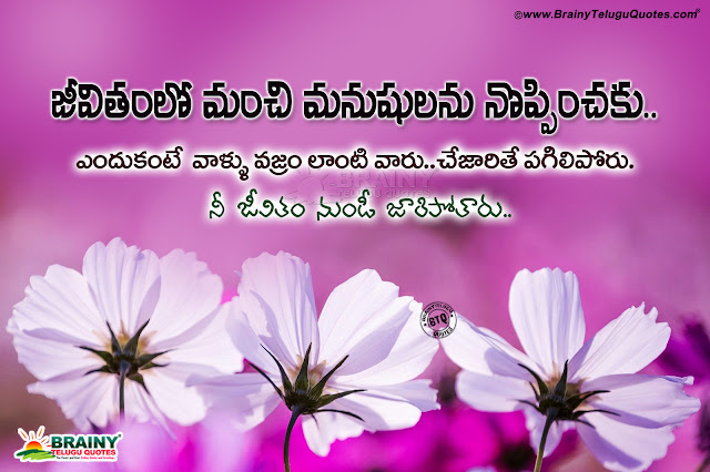 don't loose good persons in your life quotes in telugu, telugu motivational words