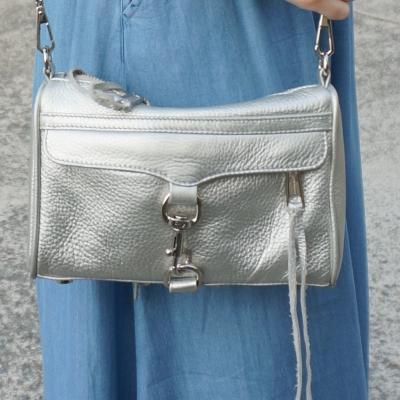 Rebecca Minkoff metallic silver mini MAC | Away From Blue