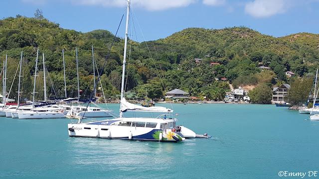 catamaran island hopping ~ Praslin ~ Seychelles by ©Emmy DE