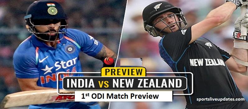India vs New Zealand 1st ODI Match